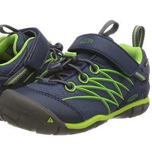 4c9fd235e9 KEEN Unisex Kids' Chandler Hiking Shoe Blue &Green
